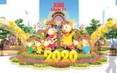 庚子年阮惠春花街的吉祥物將採用具有越南特色的東湖民間畫《老鼠婚禮》中的擬人化老鼠形象。(圖源:互聯網)