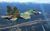 在空中飛行演習的一架 Su-30MK2殲擊機。(圖源:MH)