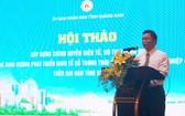 廣南省人委會副主席黎智清在研討會上發言。(圖源:海燕)