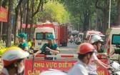 消防演習區域已被封鎖。(圖源:孟豐)