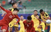 越南隊(紅衣)大勝汶萊隊。(圖源:互聯網)