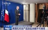 法國經濟和財政部長勒梅爾:美國擬對法產品加徵關稅不可接受。(圖源:CCTV視頻截圖)