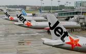 當地時間13日,澳大利亞廉價航空公司捷星,澳大利亞近100個航班將被取消。(圖源:AFP)