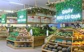 超市裡多個攤位上擺售許多種類的農產品。(示意圖源:田升)