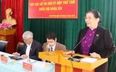 國會常務副主席從氏放(右)在選民接觸會上發言。(圖源:山羅報)