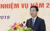 中央宣教部長武文賞在會上致詞。(圖源:越通社)