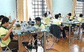 峴港市殘疾人士接受職業授藝。(示意圖源:秋莊)