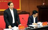 中央組織部長范明政(左)在會上致詞。(圖源:梅秀)
