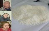 被抓獲的3名非法販毒嫌犯與毒品證物(右圖)。(圖源:乂安報)
