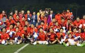 男足隊在第三十屆東運會上奪得歷史性金牌。(圖源:互聯網)
