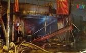 火勢熄滅後的現場一片狼藉。(圖源:VOV)