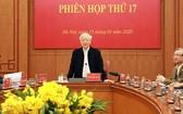 黨中央總書記、國家主席、指委會主任阮富仲主持會議並發表講話。(圖源:VGP)