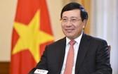 黨中央政治局委員、政府副總理、外交部長、越中雙方合作指委會越南分會主席范平明。(圖源:互聯網)