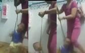 狠心母親虐待親生兒的視頻曝光。(圖源:視頻截圖/拼圖)