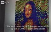 """法國街頭藝術家""""Invader""""用330個魔方組成了如馬賽克圖案般的""""蒙娜麗莎""""。(圖源:CNN視頻截圖)"""