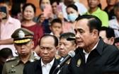 2月9日,泰國總理巴育就呵叻府槍擊事件召開新聞發佈會。(圖源:星報)