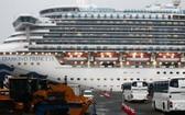 """停泊在日本橫濱港口的""""鑽石公主號""""郵輪。(圖源:Getty Images)"""