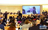 2月24日,在瑞士日內瓦,聯合國秘書長古特雷斯在聯合國人權理事會第43次會議上講話。(圖源:新華社)