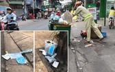 第十郡若干街道有很多亂丟的口罩,導致 垃圾收集者遇上困難。