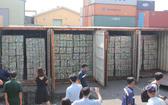 林安公司不實申報被查獲的4個集裝箱廢料鋁殼。(圖源:緣緣)