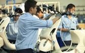 歐洲企業在越南生產摩托車。