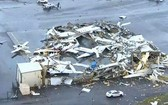 當地機場受損嚴重。(圖源:互聯網)
