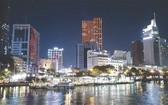 胡志明市迷人的春夜。 (范興攝)