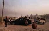 土耳其軍隊已通過4條路線進入敘利亞邊境城鎮拉斯艾因和泰勒艾卜耶德。(圖源:路透社)