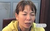 被緊急逮捕的嫌犯蕭氏雪霜。(圖源:峴港公安報)