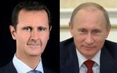 敘利亞總統阿薩德(左圖)與俄羅斯總統普京