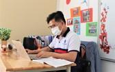 大學生在線上學習。(示意圖源:田升)