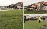 龍捲風吹毀民房。(圖源:互聯網)