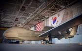 """韓軍第二架RQ-4""""全球鷹""""無人機。(圖源:哈里斯推特)"""