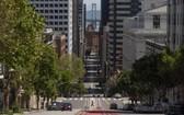 美國三藩市街頭因疫情冷冷清清。(圖源:互聯網)