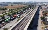 本市斥資 39 萬億元修建地鐵 5 號線。圖為地鐵1號線施工進度已進入尾聲。(圖源:志宏)