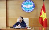 越南各友好組織聯合會主席阮芳娥出席東盟(東協)各國與中國的人民友好組織領導特別視像會議。(圖源:越通社)
