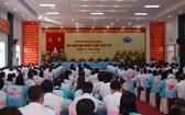 2020-2025年任期第十二屆堅江省安編縣黨部代表大會現場。(圖源:T.S)