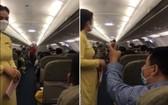 一名男乘客謾罵乘務員並與周邊乘客開始大聲爭吵起來。(圖源:楊玉)
