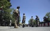 圖為在喀布爾戒備的阿富汗安全部隊。