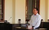 被告人黃清越在法庭上回答審判員問案。(圖源:忍南)
