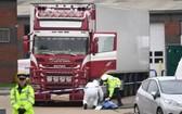 英國貨車慘案現場圖。(圖源:互聯網)