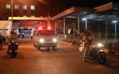 市巡邏帶團警察隊將運送人體肝臟的救護車從新山一機場順利安全護送到市醫藥大學醫院大門。(圖源:警方提供)