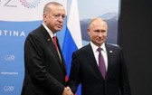 土耳其總統埃爾多安(左)與俄羅斯總統普京。(圖源:互聯網)