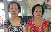 李霞(左)和李月珍因病喪失勞動力。