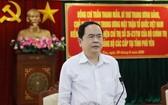 黨中央書記、越南祖國陣線中央委員會主席陳清敏會上致辭。(圖源:香葉)