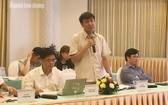 越南勞動總聯團代表在討論會上發表意見。(圖源:仲德)