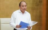 政府總理阮春福在政府常務會議上發表講話。(圖源:光孝)