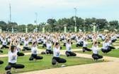 寧順省第六屆國際瑜伽節匯演現場。(圖源:陳青山)