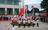 中國香港特區政府7月1日上午在灣仔金紫荊廣場舉行升旗儀式,慶祝香港回歸祖國23週年。(圖源:互聯網)