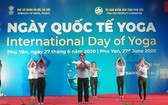 在富安省舉行的國際瑜伽日活動。(圖源:互聯網)